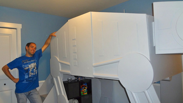 The Luckiest Kid on Earth (or Hoth) Just Got an AT-AT Bunk Bed