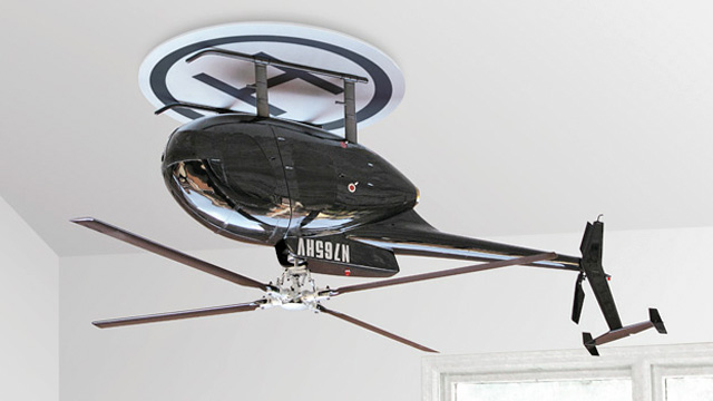 Click here to read An Upside Down Helicopter Makes For One Bad-Ass Ceiling Fan