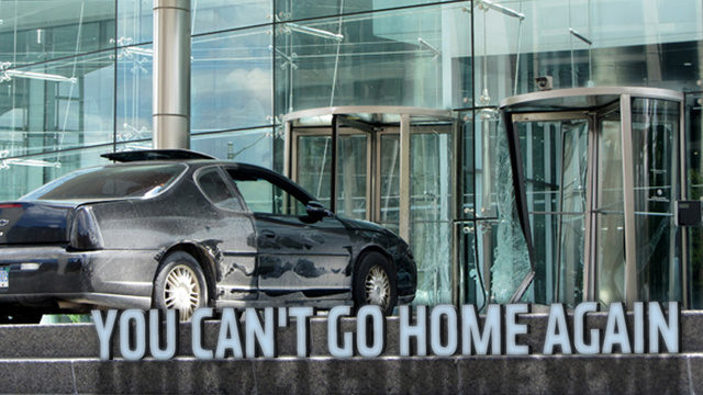 Crazy Man Crashes Chevy Into GM Headquarters