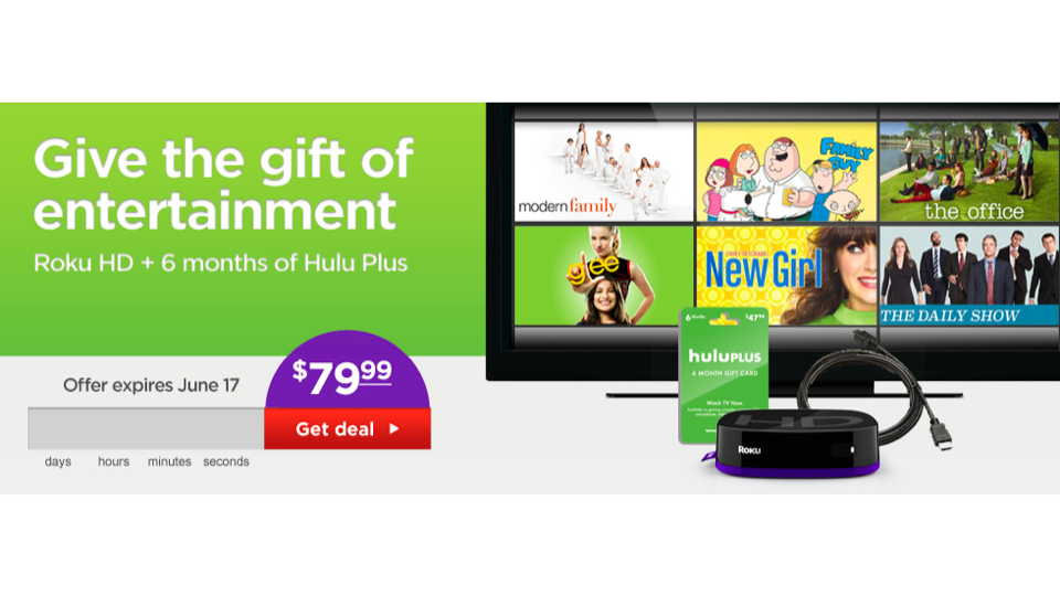 Click here to read This Super-Cheap Roku/Hulu Plus Bundle Will Help You Waste Your Summer on the Couch