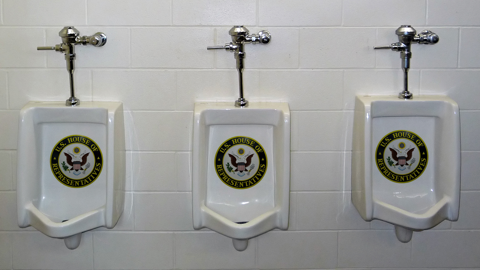 Click here to read House of Representatives' Urinal Explosion Drenches the Press