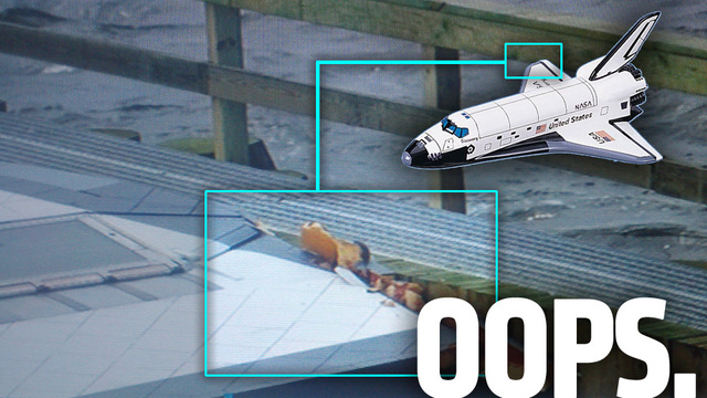 A New York Barge Pilot Smashed The Shuttle's Wing