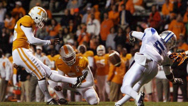Meet Tennessee's Emergency Kicker, Who Was Sitting On A Frat Couch, Possibly Drunk, An Hour Before Kicking In The Game