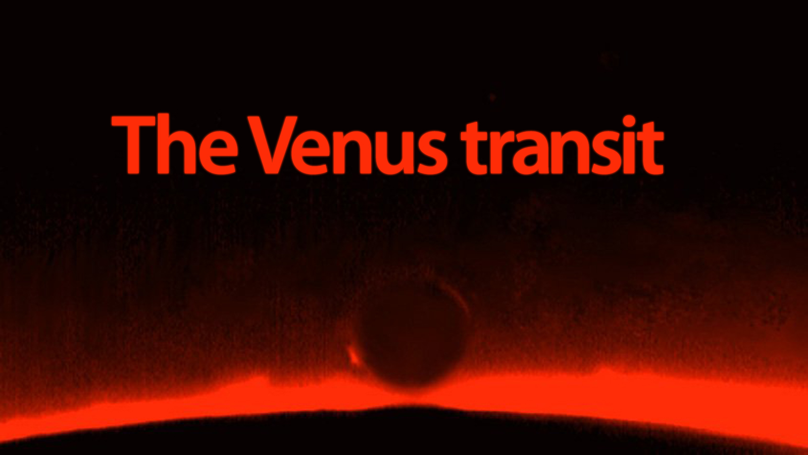 How To Watch Today's Venus Transit