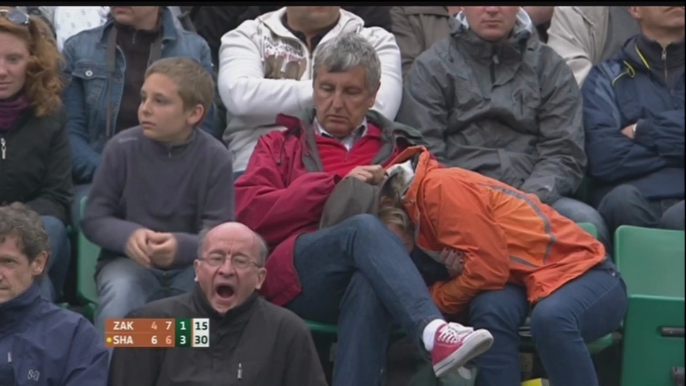 For These Tennis Fans, The Score Is Love-Mouth