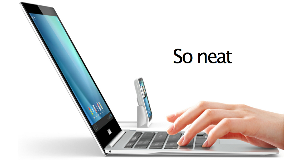 Click here to read This Beautiful Device Turns Your iPhone and Android Into an Ultra-Thin Laptop