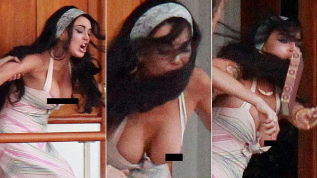 The Sad Tit of Lindsay Lohan Portends Chaos Once Again (NSFW)