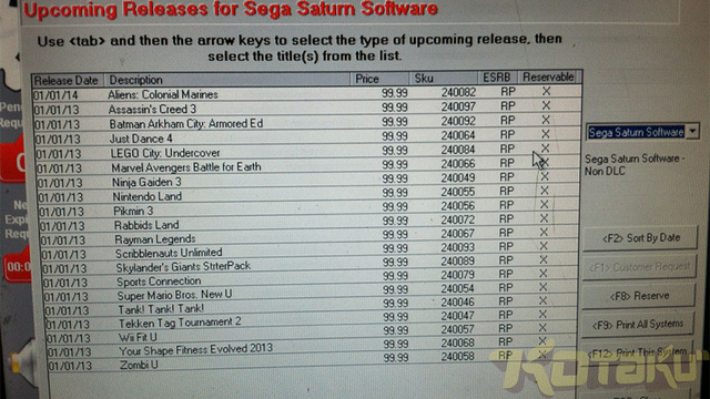 Here's GameStop's New Sega Saturn (Well, Wii U) Games List
