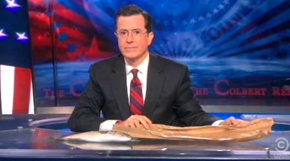 Click here to read Stephen Colbert Celebrates the Death of Unions, Gets a Sicilian Message from his Crew