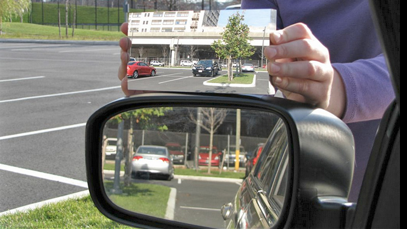 This Car Mirror Works Like A Flat Disco Ball To Completely Eliminate Blind Spots