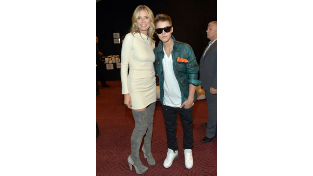 Heidi Klum and Justin Bieber Make Each Other Nervous and Sweaty