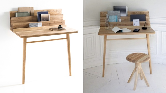 This Desk Only Needs Two Legs
