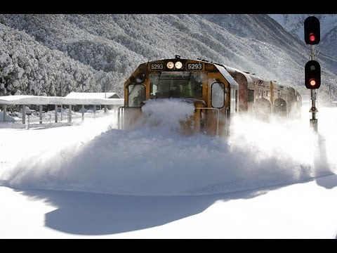 Click here to read Watch This Badass Train Smash and Destroy Snow Like a Boss