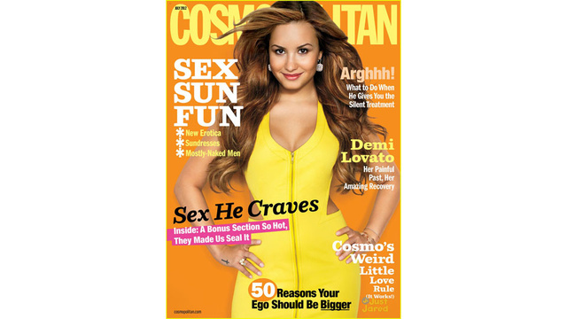Demi Lovato Talks Eating Disorders in Cosmo, Gets a Whittled-Down Waist as Thanks