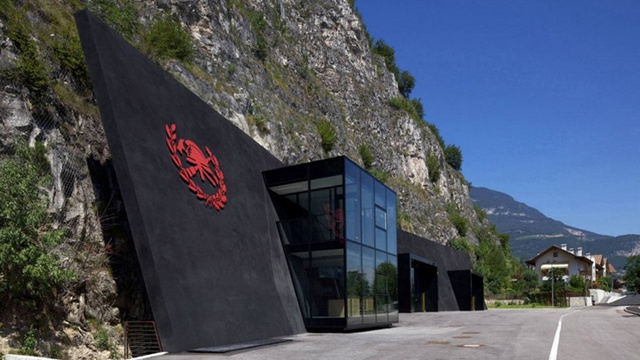 This Evil-Looking Mountain Fortress Is Really a Magnificent Fire Station