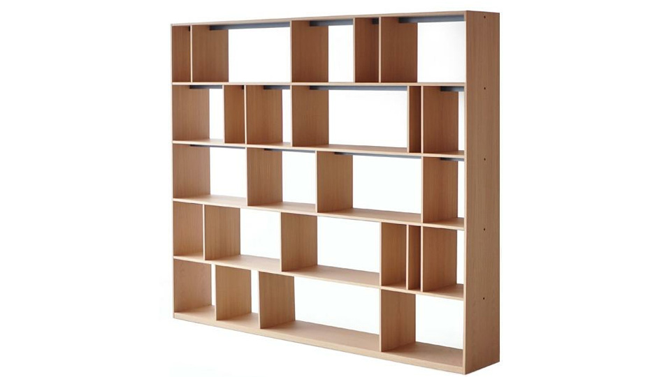 Adjustable Dividers Ensure No Book Will Ever Topple While On This Shelf
