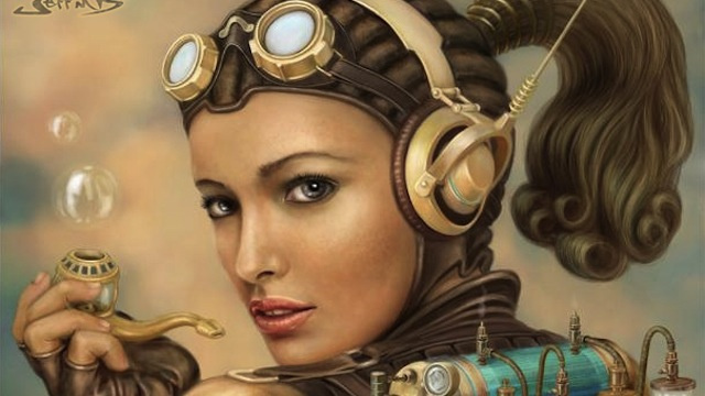 Gorgeous Portraits of Steampunk's Jetpack-Wearing Superwomen