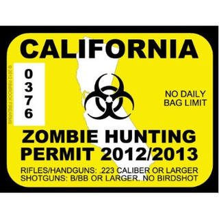 Grab a zombie hunting permit before you go head-hunting