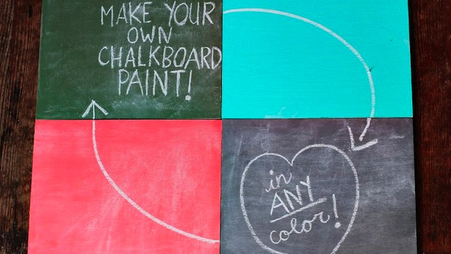 Click here to read Mix Your Own Chalkboard Paint in Any Color You Want