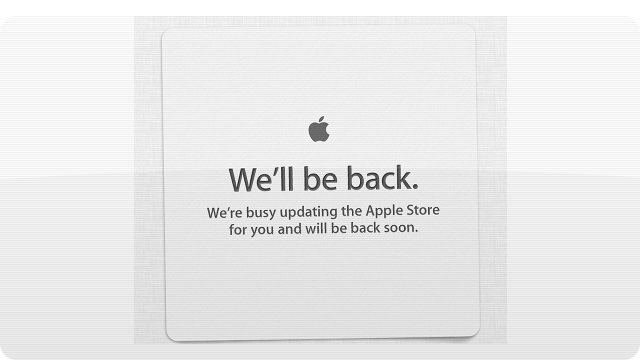 Click here to read The Apple Store Is Down: Here Come Some Shiny New MacBook Pros?