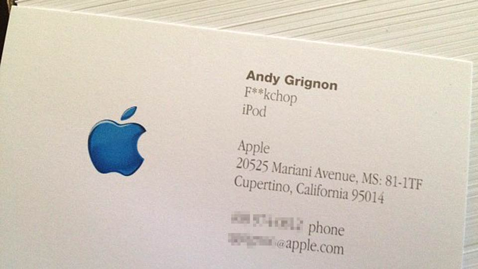 Click here to read How Steve Jobs Caused the Funniest and Weirdest Apple Business Card I've Ever Seen
