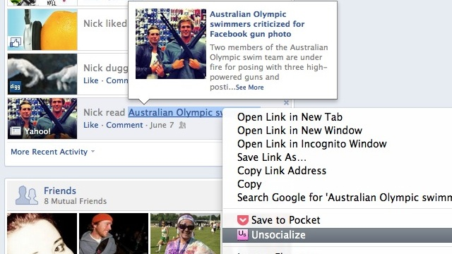Click here to read Unsocialize Lets You Open Social Reader Links Without Installing Facebook Crapware