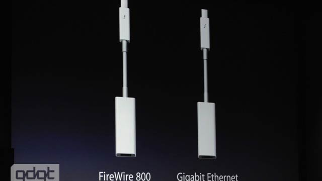 Click here to read New Thunderbolt Adapters Will Connect to FireWire 800 and Gigabit Ethernet