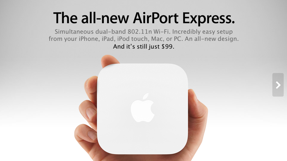 Apple Sneaks In An Airport Express Update [AirPort Express]