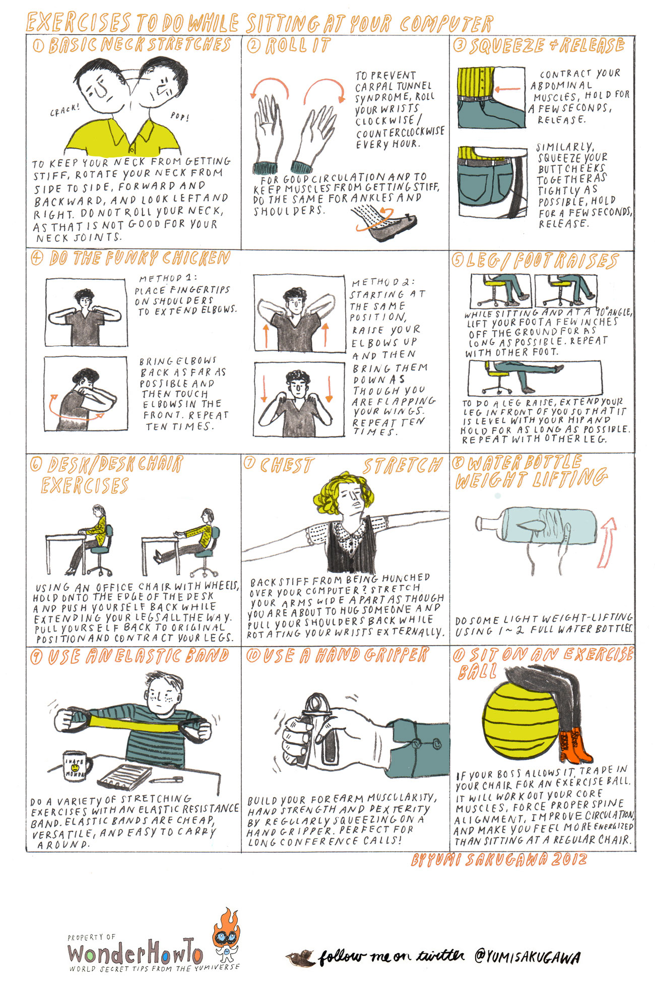 Awesome 11 Exercises To Do While Sitting At Your Computer [Secrets Tips From The  Yumiverse] Design Ideas