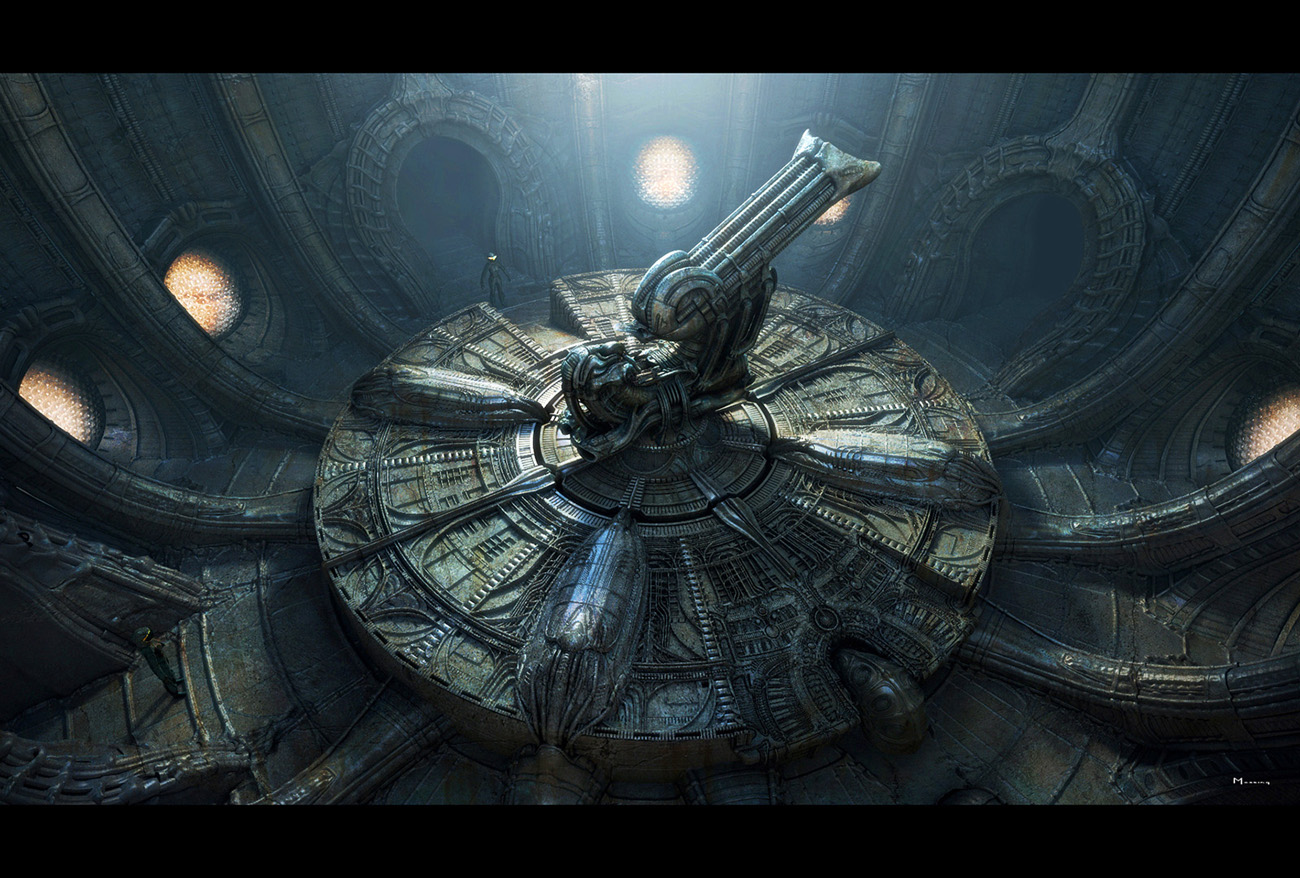 The design of prometheus article new concept art avpgalaxy for Prometheus xenomorph mural