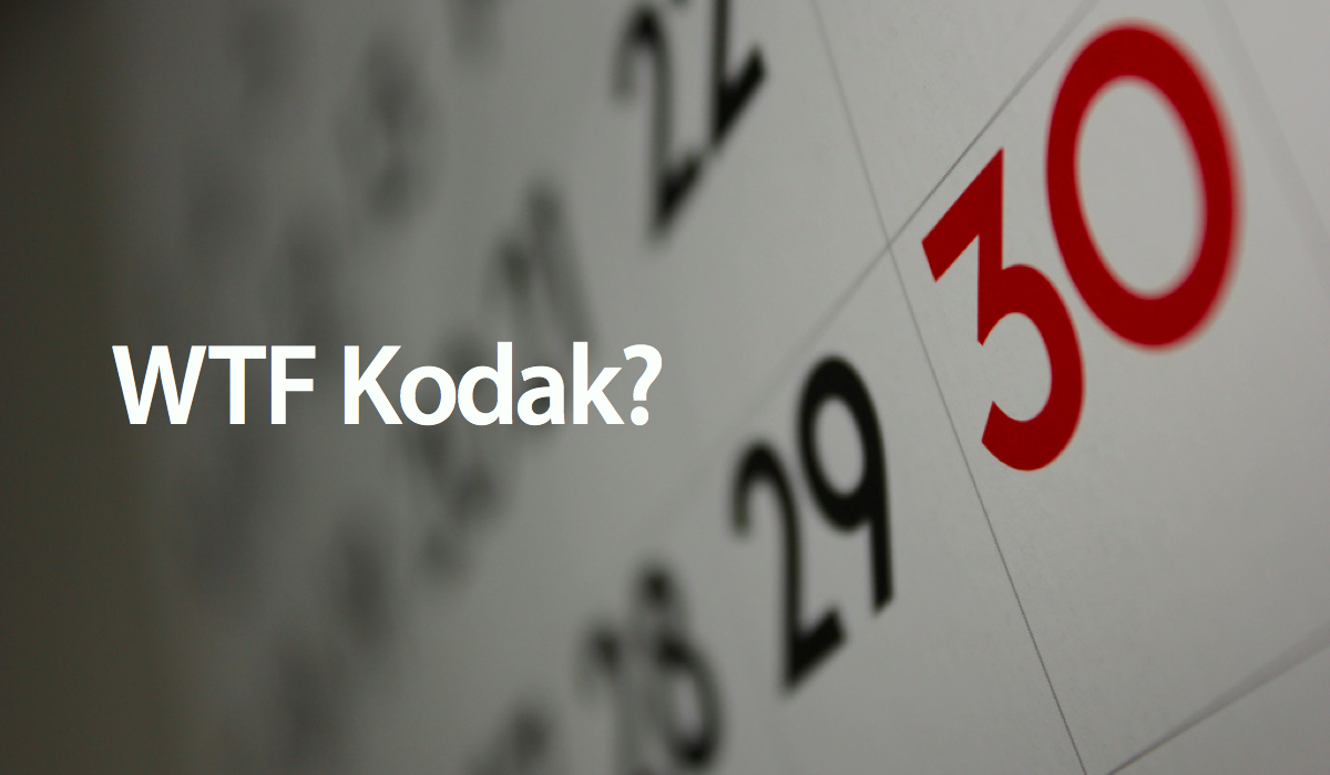 Kodak Used A Calendar With 13 Months
