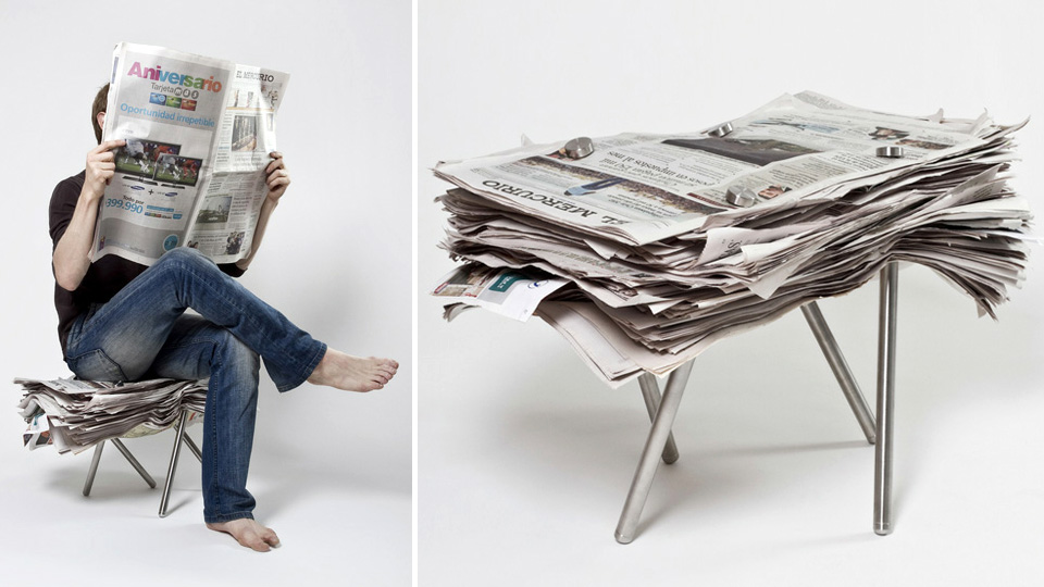 Screw-On Metal Legs Turn Any Pile Of Crap Into A Comfortable Seat