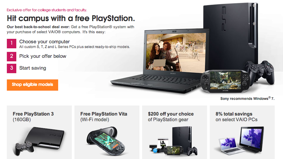 Click here to read Sony Will Give You a Free PS3 or PS Vita If You Buy a Vaio Laptop