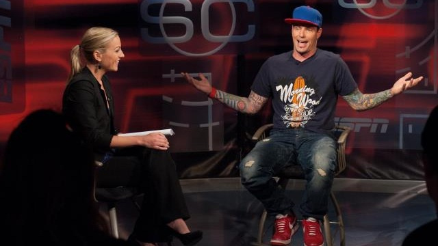 "Vanilla Ice Appears on  SportsCenter  Wearing ""Morning Wood"" T-Shirt"