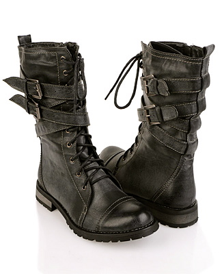 Military By RabbitHouseVintage - Retro Combat Boots Fashion For Women