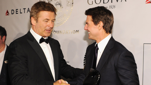 Alec Baldwin Knows Better Than to Look Directly Into Tom Cruise's Eyes