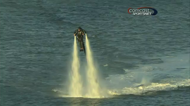 A Man Flying A Jetpack Showed Up To The Giants Game Last Night