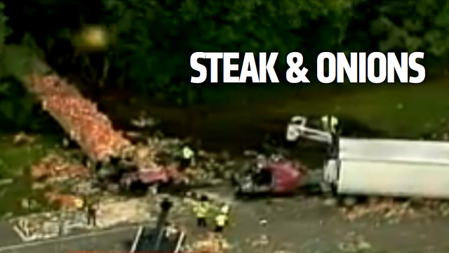 A Truck Full Of Meat Crashed Into A Truck Full Of Onions