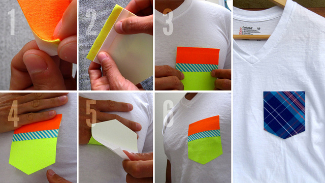 Peel and Stick Pockets Put Extra Storage All Over Your Clothing
