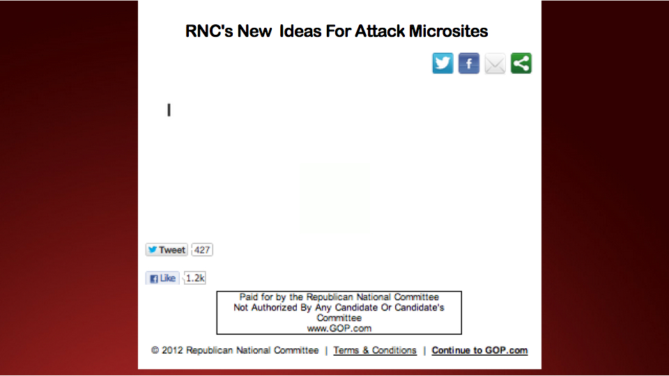 US Republicans Unapologetically Lifts Code From Year-Old Democrat Attack Site