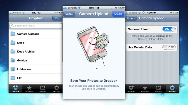 Click here to read Dropbox Adds Automatic Camera Uploads to iOS, Gives Away 3GB of Free Space
