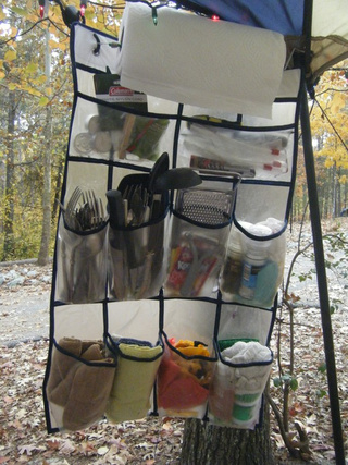 Turn a Shoe Organizer into the Ultimate Outdoor Kitchen Organizer