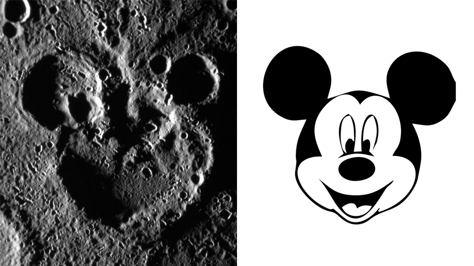 Does This Craters On Mercury Looks Like Mickey Mouse 