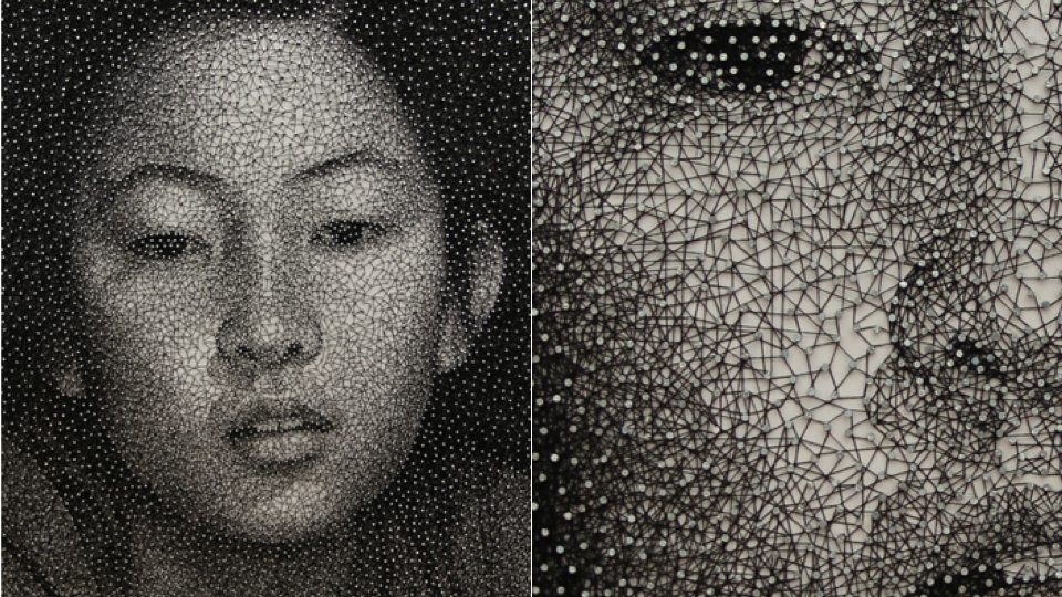 These Thread-and-Nail Portraits Are 50 Shades Of Great