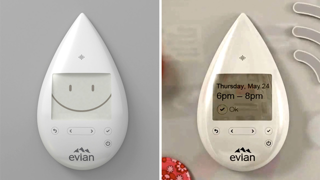 Evian's New Home Delivery Lets the Naive Order Water With a Wireless Fridge Magnet