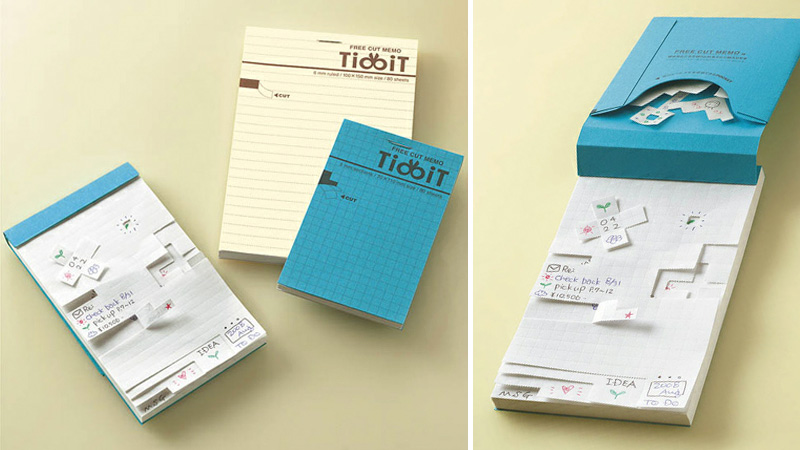 Ingenious Perforated Graph Paper Lets You Easily Tear Out Any-Sized Notes
