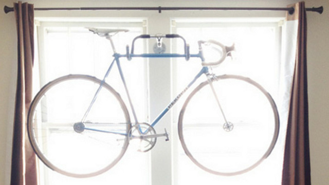 Repurpose Bicycle Handlebars Into a Fun Indoor Bike Rack