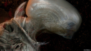 Prometheus concept art puts us face-to-sucker with the movie's creatures