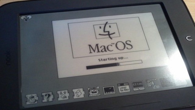Click here to read Someone Installed MacOS on a Nook Simple Touch eReader