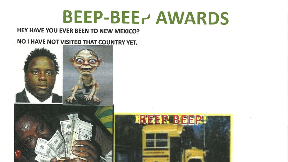 The Beep-Beep Awards, And Nine Other Bizarre Slides From Gregg Williams's Slideshows
